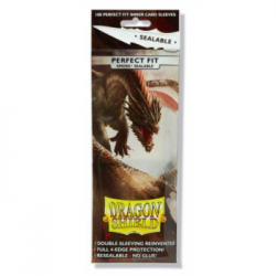 Dragon Shield Standard Perfect Fit Sealable Sleeves - Smoke (100 Sleeves)
