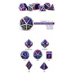 Metal & Enamel Dice Set (7pcs) Royal Purple Iridescence