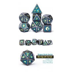 Metal & Enamel Dice Set (7pcs) Atlantis