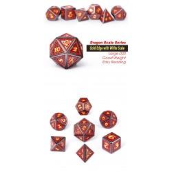 Metal & Enamel Dice Set (7pcs) Spellbound