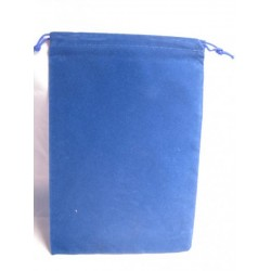 Velour Dice Bags Small Blue 4x6 Inch