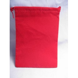 Velour Dice Bags Small Red 4x6 Inch