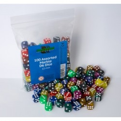 Blackfire Assorted D6 Dice Marbled 12mm
