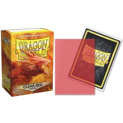Dragon Shield - Matte Clear Red Semitransparent