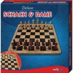Chess and Draughts Wood - Sah i Dame