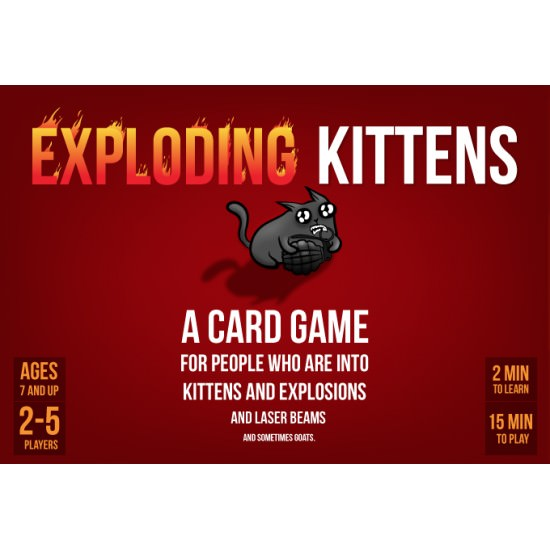 Exploding Kittens with 3 exp