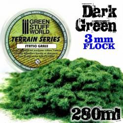 Static Grass Flock 3 mm - Dark Green - 280 ml