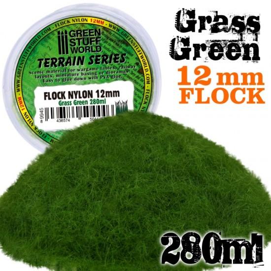 Static Grass Flock 12mm - Grass Green - 280 ml