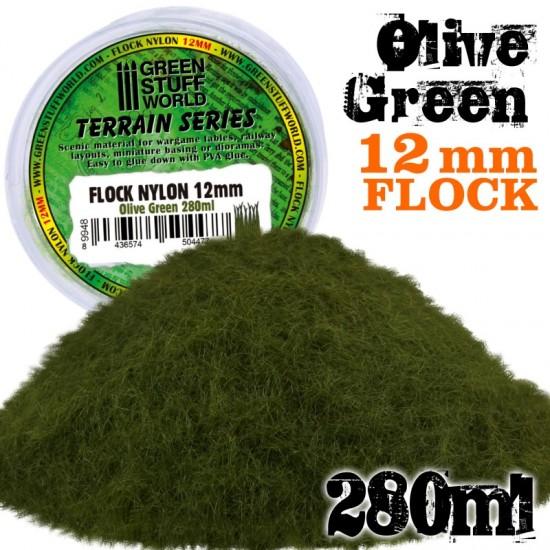 Static Grass Flock 12mm - Olive Green - 280 ml