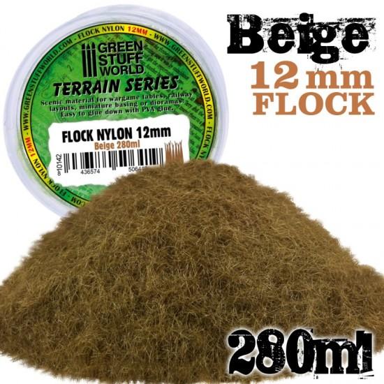 Static Grass Flock 12mm - Beige - 280 ml