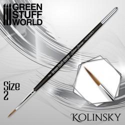 SILVER SERIES Kolinsky Brush - Size 2