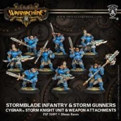 Warmachine Cygnar Stormblade Infantry & Attachment - 9