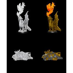 D&D Nolzur's Marvelous Miniatures: Gold Dragon Wyrmling & Half Eaten Treasure Pile