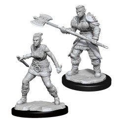 D&D Nolzur's Marvelous Miniatures Unpainted Miniatures Orc Barbarian Female