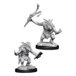 Magic the Gathering Deep Cuts Unpainted Miniatures Goblin Guide & Goblin Bushwhacker