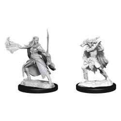 D&D Nolzur's Marvelous Miniatures Unpainted Miniatures Winter Eladrin & Spring Eladrin